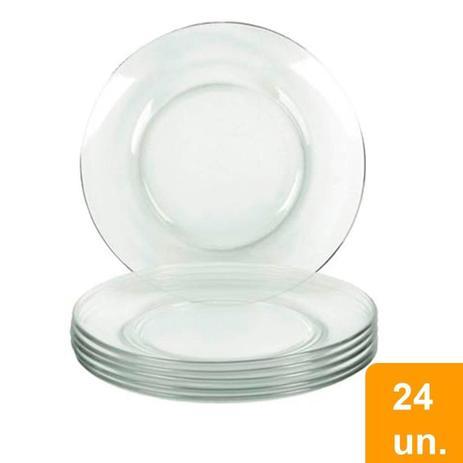 Imagem de Conjunto de Pratos Rasos de Vidro 24 peças Astral - Marinex