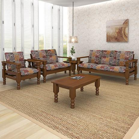 conjunto de sofa de madeira 3 2 1 belini sof s magazine luiza. Black Bedroom Furniture Sets. Home Design Ideas