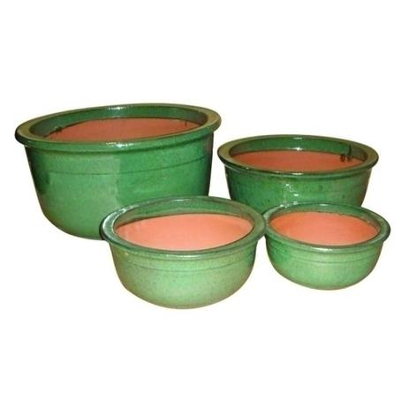 Imagem de Conjunto de vasos vietnamita verde - 4 pcs
