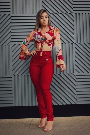 7947abd57 Conjunto feminino Cropeed e Calça Pç Linda Moda Roupas Femininas - Bellucy  modas