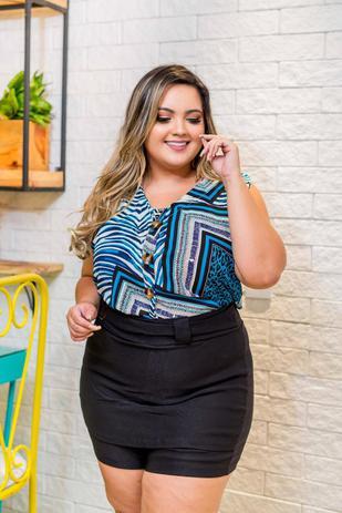 f476a16d7 Conjunto Feminino Plus Size Blusa + Short Moda Roupas Femininas - Bellucy  modas