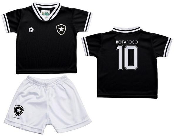 18cc261c6eb9d Conjunto Infantil Botafogo Uniforme Preto - Torcida Baby - Revedor ...