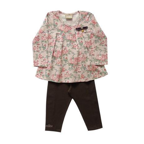 Conjunto infantil menina floral manga longa - Milon - Conjuntinhos ... 0e4d321f01e