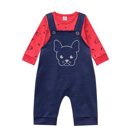 e6370187a Conjunto Infantil Menino Camiseta Manga Longa e Jardineira - Brandili