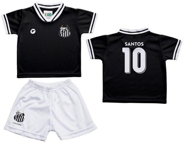 cfef0c8275c2b Conjunto Infantil Santos Uniforme Preto - Torcida Baby - Revedor ...