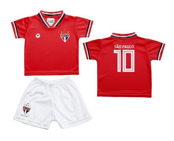25d1183711 Conjunto Infantil São Paulo Uniforme Vermelho - Torcida Baby - Revedor