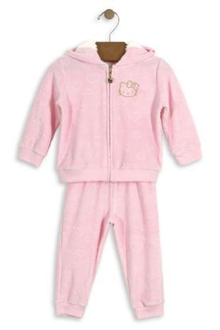 4f55c64bf6 Conjunto Jaqueta com Capuz e Calça Hello Kitty Baby em plush Rosa ...