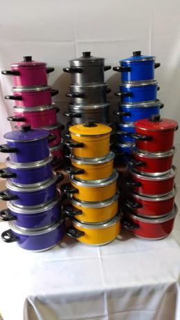 Imagem de Conjunto Jogo de Panela Caçarola Alumínio 5 peças Colorida