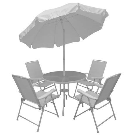 Imagem de Conjunto Malibu Mesa Com Cadeiras E Guarda Sol Jar-mal Mor