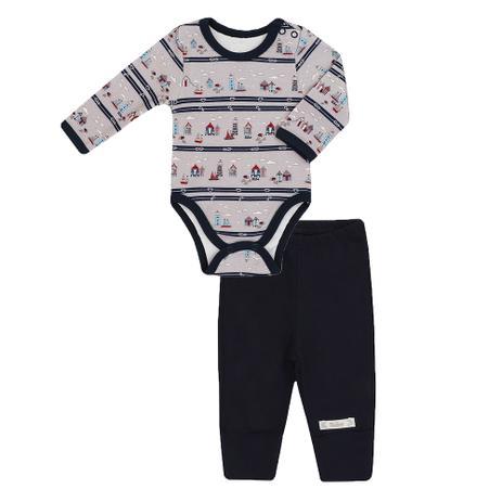 438fa91be2c24 Conjunto Masculino Bebê Body e Calça Estampa Farol - Bibe - Roupa de ...