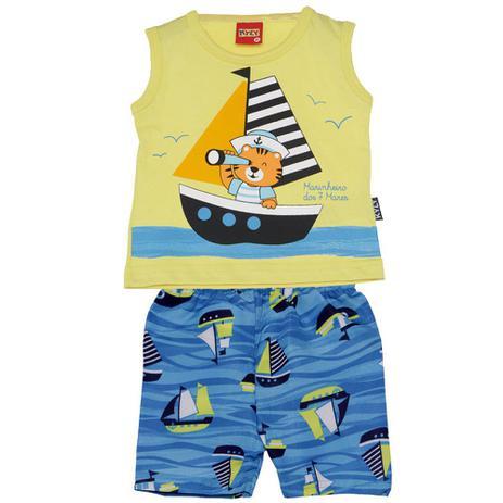 Conjunto Menino Pequeno Marinheiro Amarelo - Kyly - Conjuntinhos ... 4590248912842