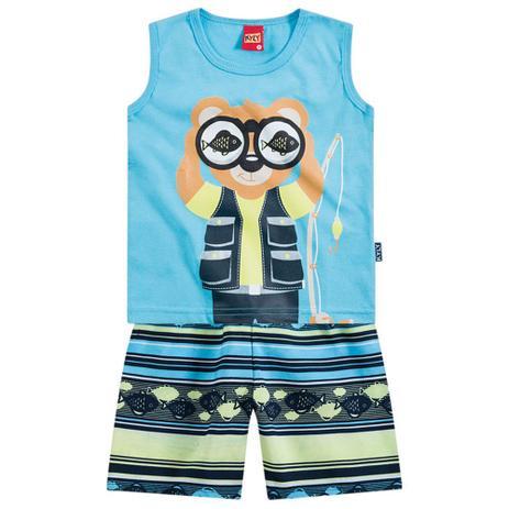c5735b342a Conjunto Menino Ursinho Pescador Azul - Kyly - Conjuntinho Infantil ...