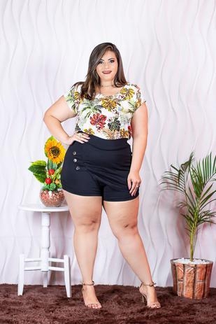 2cae0905b352 Conjunto Plus Size Blusa Short Roupas Femininas - Bellucy modas ...