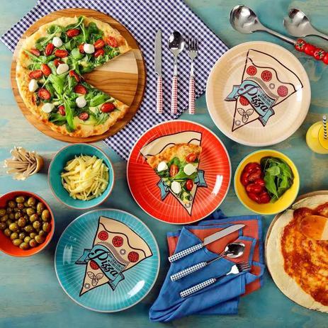 Imagem de Conjunto Prato de Pizza 6 peças