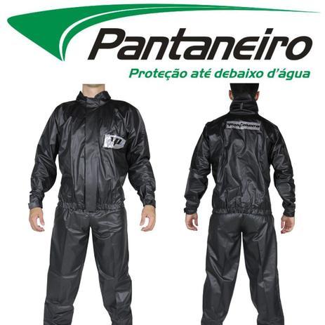 Imagem de Conjunto Roupa Capa De Chuva Preta Pantaneiro Pvc Tornado Luxo Motoqueiro Moto Motoboy