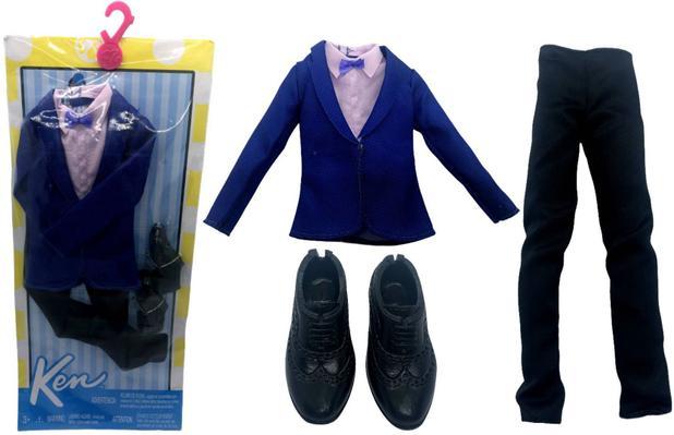 Imagem de Conjunto Roupinha De Gala Smoking Terno Azul Para Boneco Ken Fashionista Namorado Barbie - Mattel