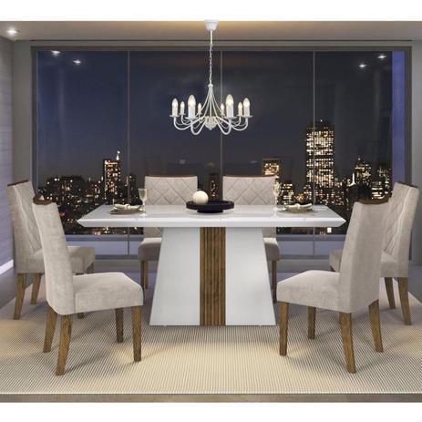 Conjunto sala de jantar mesa it lia 6 cadeiras golden dj for Sala 2 conjunto de artes escenicas