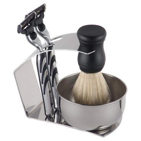 Imagem de Conjunto Suporte para Barbeador SPA Inox 3 Peças