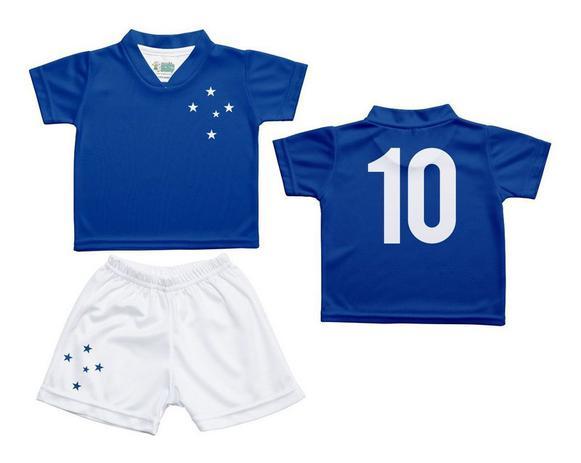 6dfefbff8 Menor preço em Conjunto Uniforme Bebê Cruzeiro Dry Oficial - Torcida Baby