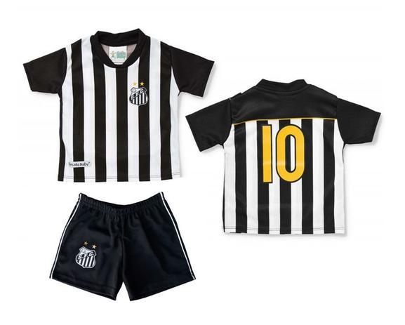 Conjunto Uniforme Bebê Infantil Santos Oficial - Torcida baby ... 0e6e63f3c7b92