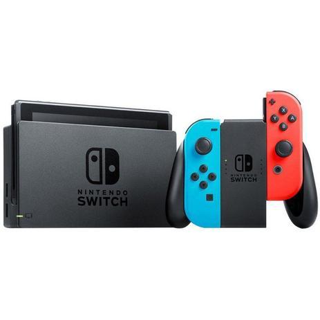 Console Nintendo Switch 32 GB Cinza com Controle Azul/Vermelho