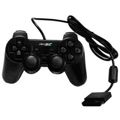 Imagem de Controle Analogico Playstation 2 Preto FLEX Compativel