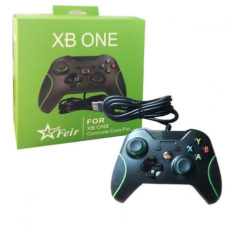 Imagem de Controle Joystick P/ Xbox One Pc Com Fio Cabo 2,10m USB Feir