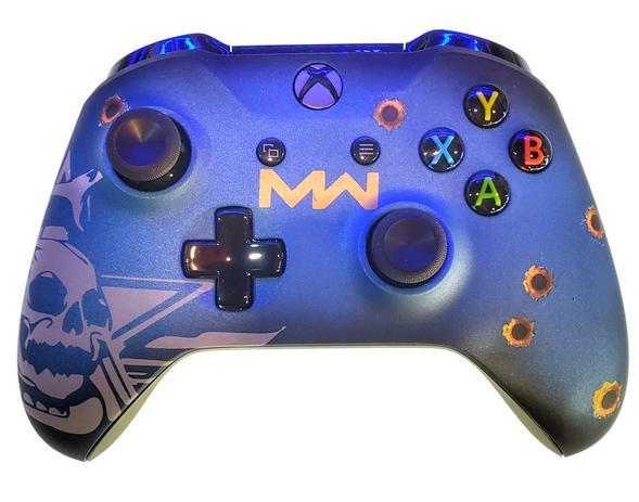 Controle Original Microsoft Cod Mw Azul Xbox One Controles