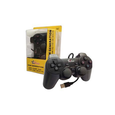 9325e21b5 Controle Playstation 2 Usb Manete Pc Analógico Vibratório Computador - Mex