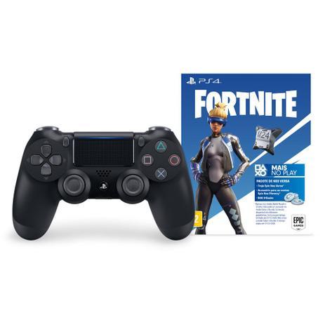 Imagem de Controle Playstation Dualshock 4 Preto + Voucher Fortnite - PS4
