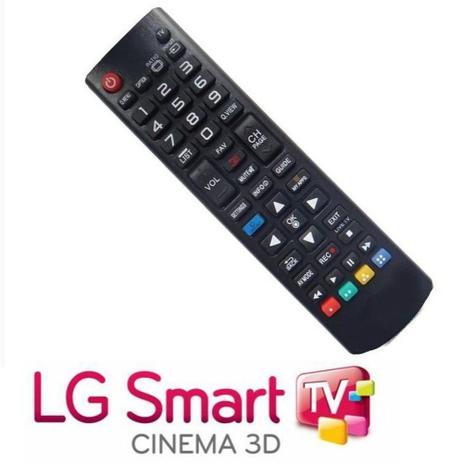 Imagem de Controle Remoto Para Tv LG Smart - Tecla futebol, 3D, Smart - Serve em todos modelos