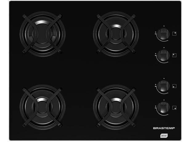 Cooktop 4 Bocas Brastemp Ative! BDD61A a Gás - Acendimento Automático