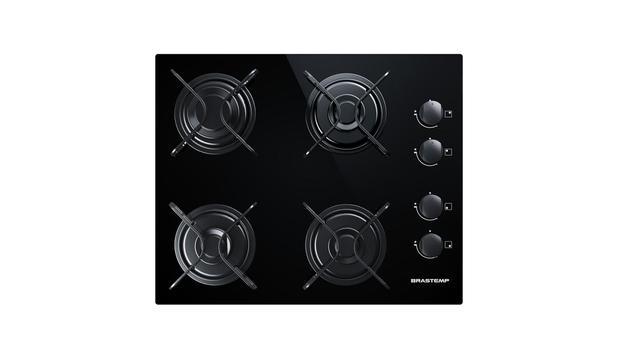 Imagem de Cooktop 4 bocas Brastemp com Grades Piatina e Acendimento Automático - BDD61AE
