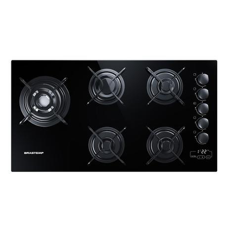 160a232d9 Cooktop 5 bocas Brastemp com quadrichama e timer touch - Cooktop 5 ...