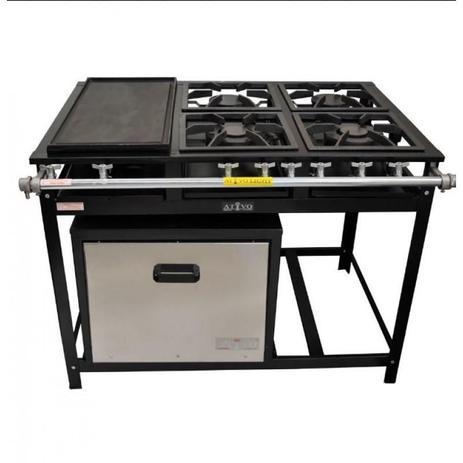 Cópia não utilizar fogão industrial 4 bocas com chapa e forno gastromixx