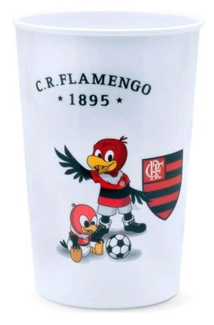 Imagem de Copo Flamengo Plástico Branco Lolly 350ml