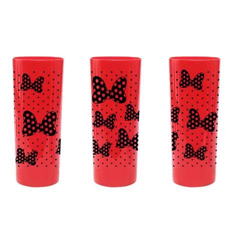 5657a2b7d Copo Long Drink 350 ml Laços e Poá Leitoso Vermelho Bezavel - Festabox
