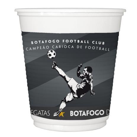 Copo Plástico Botafogo C 8 Unidades - Festcolor - Artigos e ... 88a02759a724a