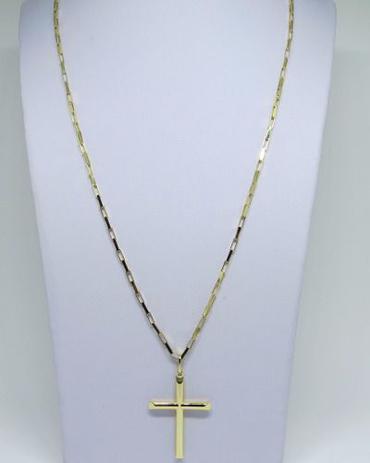 c0a8ab65b54 Cordão Corrente Cartier Grossa + Pingente Crucifixo Ouro 1 - Total pratas