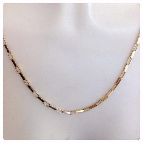 dddabe43259 Cordão Corrente Masculina Ouro 4.1 Gr 60cm Ouro 18k Maciça Cadeado - Dr  joias