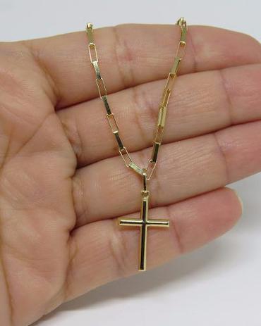 09b5a32b2d2 Cordão Corrente Masculina Ouro 60cm 2.7 Gr E Pingente Crucifixo Ouro 18k  750 Cadeado - Dr joias