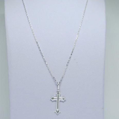 3d33df4936d Cordão Corrente Masculina Prata 80cm Pingente Crucifixo Prata 925 Cadeado -  Dr joias