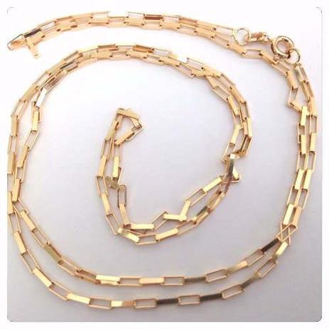 2ec36cf4b2943 Cordão Corrente Masculino Ouro 70cm 4.8 Gr Ouro 18k 750 Cadeado - Dr joias