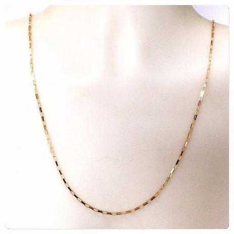 Cordão Corrente Masculino Ouro 80cm Ouro 18k750 Maciço Cadeado - Dr joias d84ddcf023