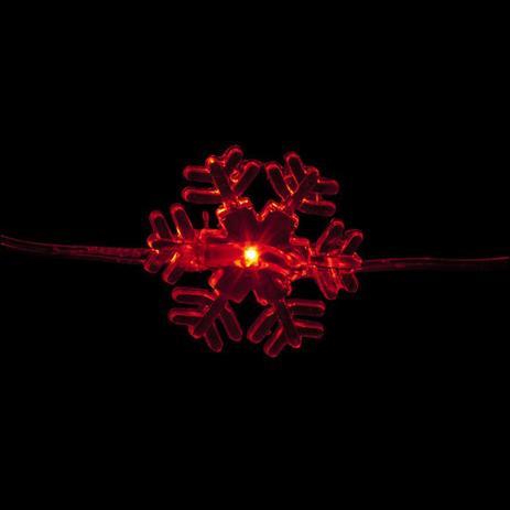 Cordão Luz de Fada Flocos de Neve LED Vermelho - 3m - Aluá festas ... efddacebbf