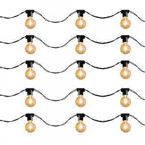 Imagem de Cordão para Lâmpadas com 20 soquetes 10 metros Preto