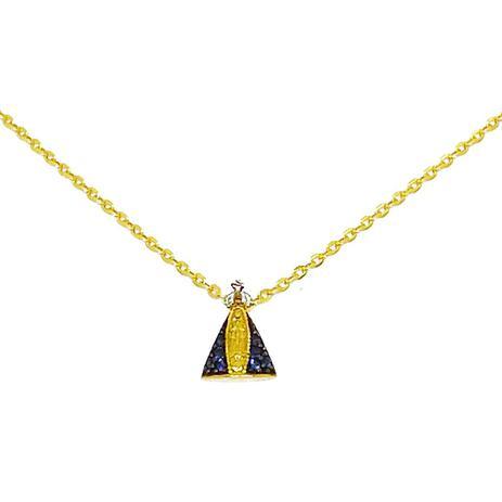 6d21c03c1b1a1 Corrente Com Pingente Nossa Senhora Zirconias Ouro 18k - Glamour ...