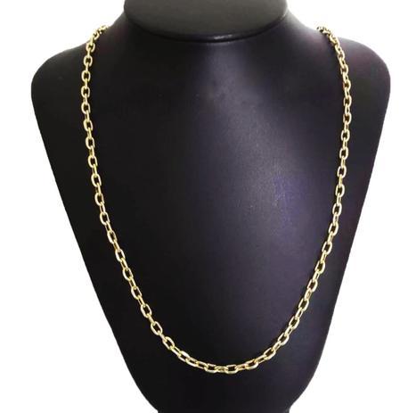 3edc0534a0e Corrente Cordão Cadeado 10 Gramas 4mm 70cm Ouro 18k 750 - 70 CM - Ouro  Amarelo - Perucci joias