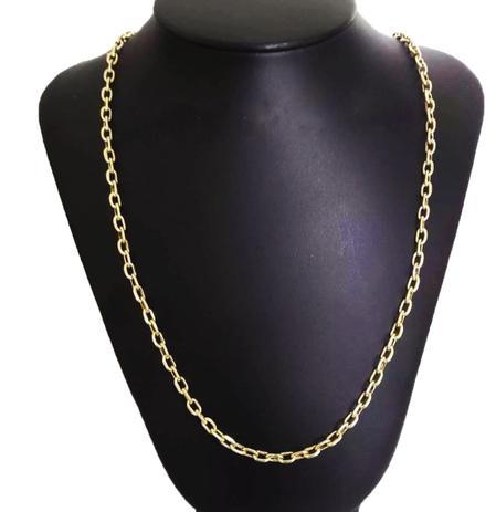 d24699552a0 Corrente Cordão Cadeado 13 Gramas 4mm 70cm Ouro 18k 750 - 70 CM - Ouro  Amarelo - Perucci joias