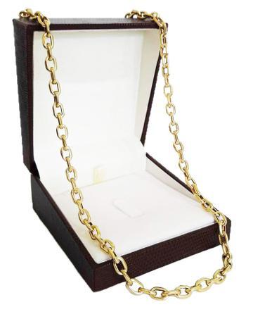 810a046fcf2 Corrente Cordão Cadeado 16 Gramas 5mm 60cm Ouro 18k 750 - 60 CM - Ouro  Amarelo - Perucci joias